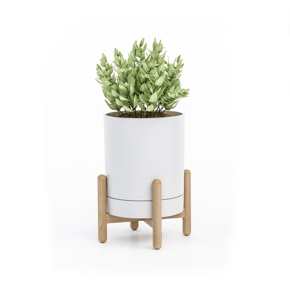 Blythe White/Natural Tabletop Plant Stand