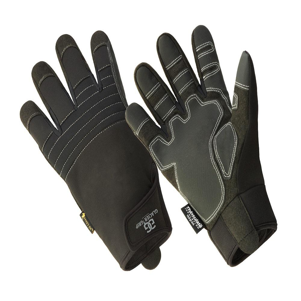 Leather work gloves with thinsulate lining - Hands On Glacier Grip Premium High Dexterity Thinsulate Lined Glove 100 Waterproof