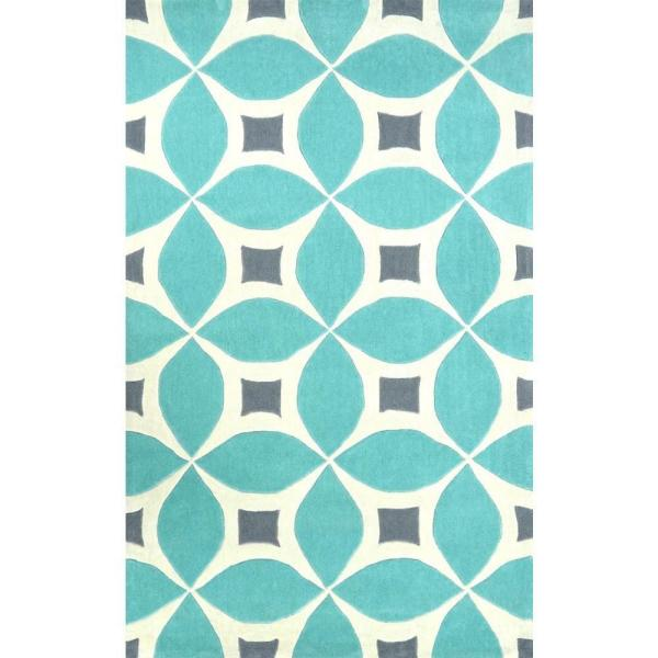 Gabriela Contemporary Baby Blue 5 ft. x 8 ft.  Area Rug
