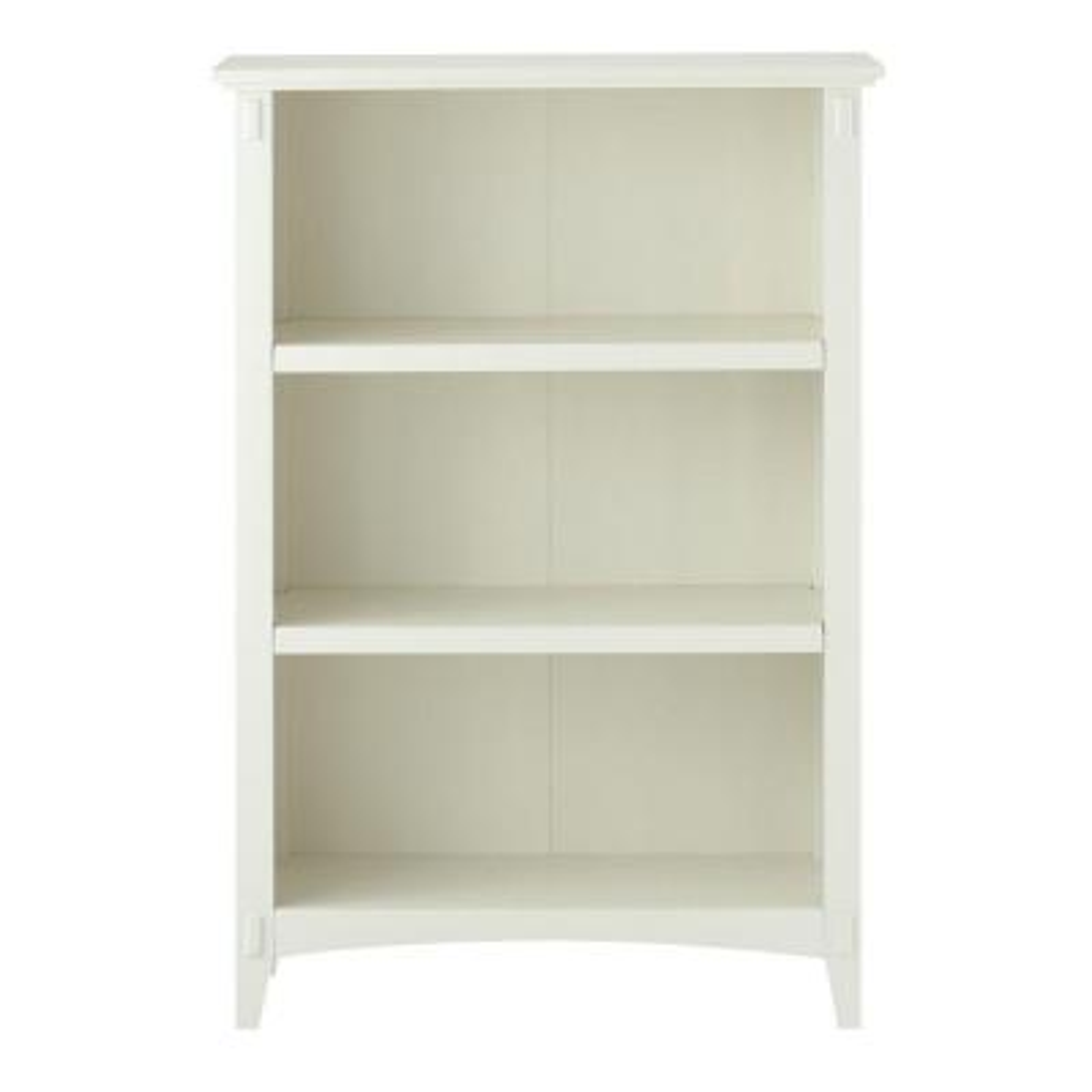 Artisan White 3 Shelf Open Bookcase