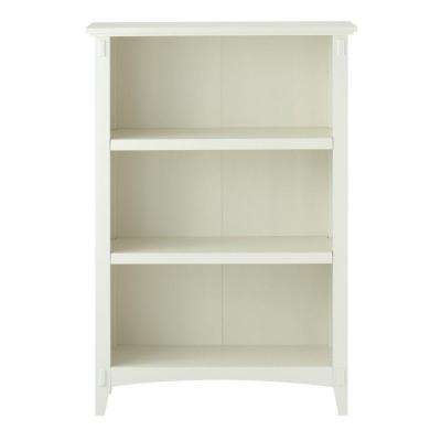 Artisan White 3 Shelf Open Bookcase