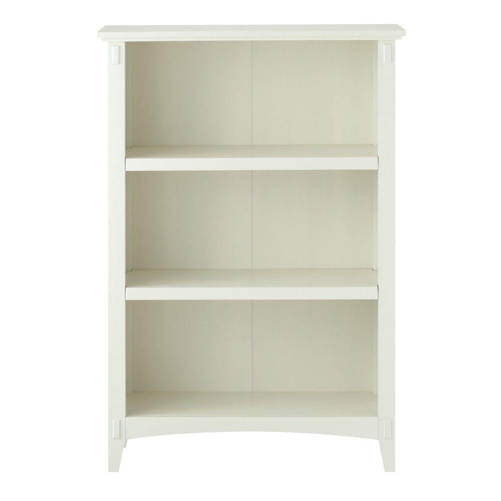Home Decorators Collection Artisan White 3 Shelf Open Bookcase 9223700410
