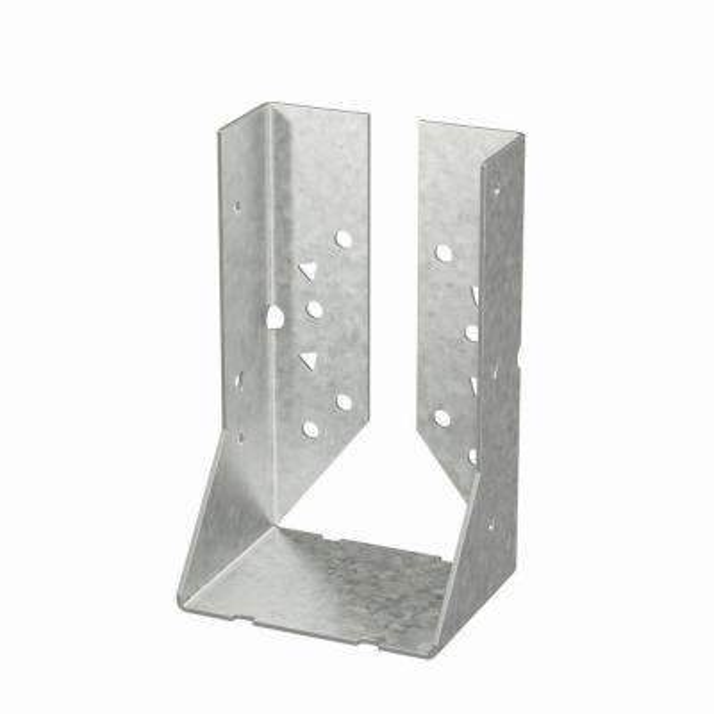 HUC Galvanized Face-Mount Concealed-Flange Joist Hanger for Double 2x6