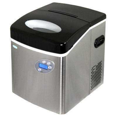 50 lb. Freestanding Ice Maker in Stainless Steel