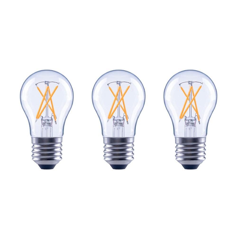 EcoSmart 60-Watt Equivalent A15 Dimmable Clear Glass Decorative Filament Vintage Edison LED Light Bulb Soft White (3-Pack)