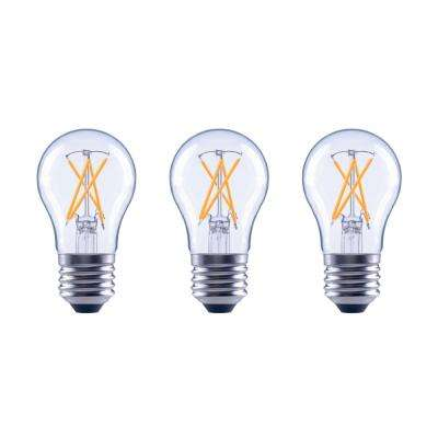 60-Watt Equivalent A15 Dimmable Clear Glass Decorative Filament Vintage Edison LED Light Bulb Soft White (3-Pack)