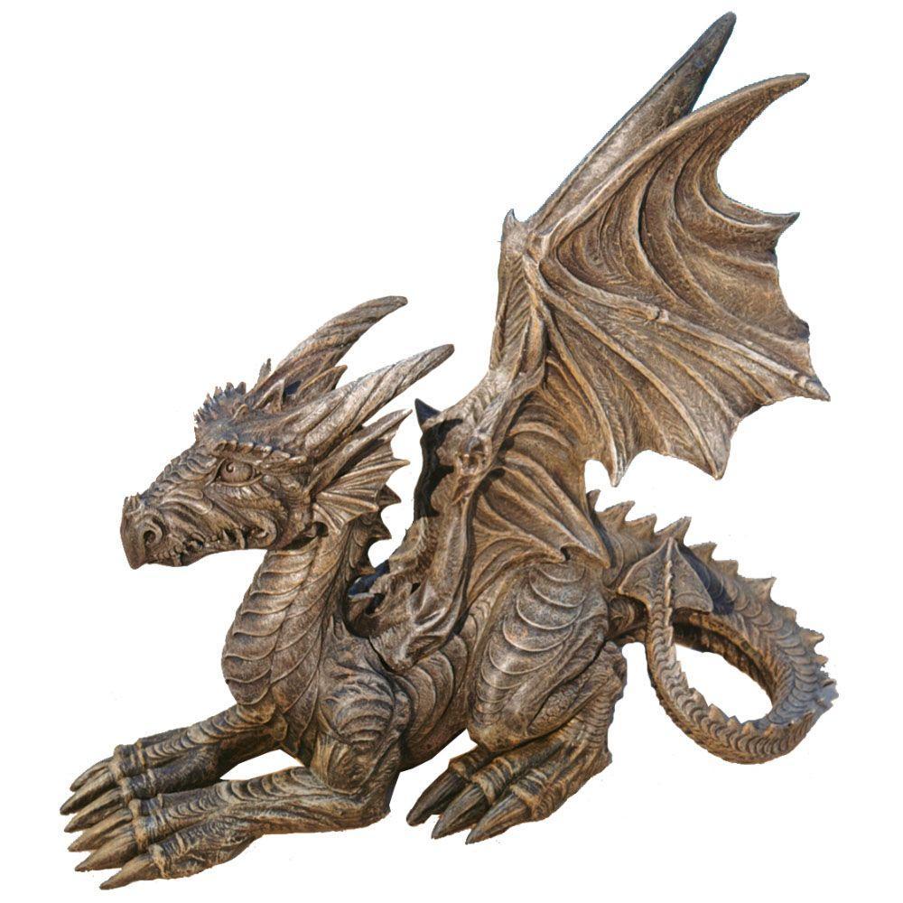 Design Toscano 15 in. Desmond the Dragon Statue-DISCONTINUED