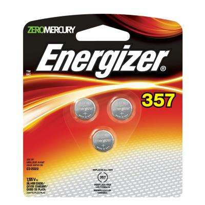 Silver Oxide 357 1.55-Volt Watch/Electronic Batteries (3-Pack)