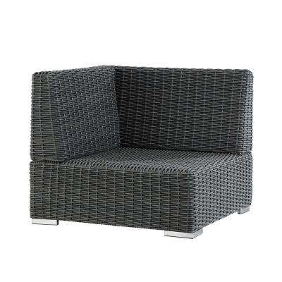 Camari Charcoal Wicker Corner Outdoor Sectional Chair