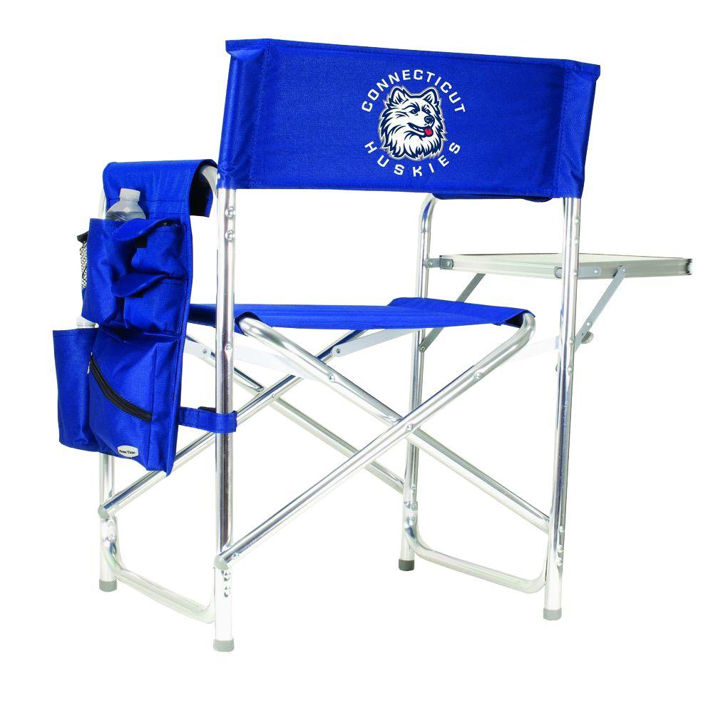 University of Connecticut Navy Sports Chair with Digital Logo
