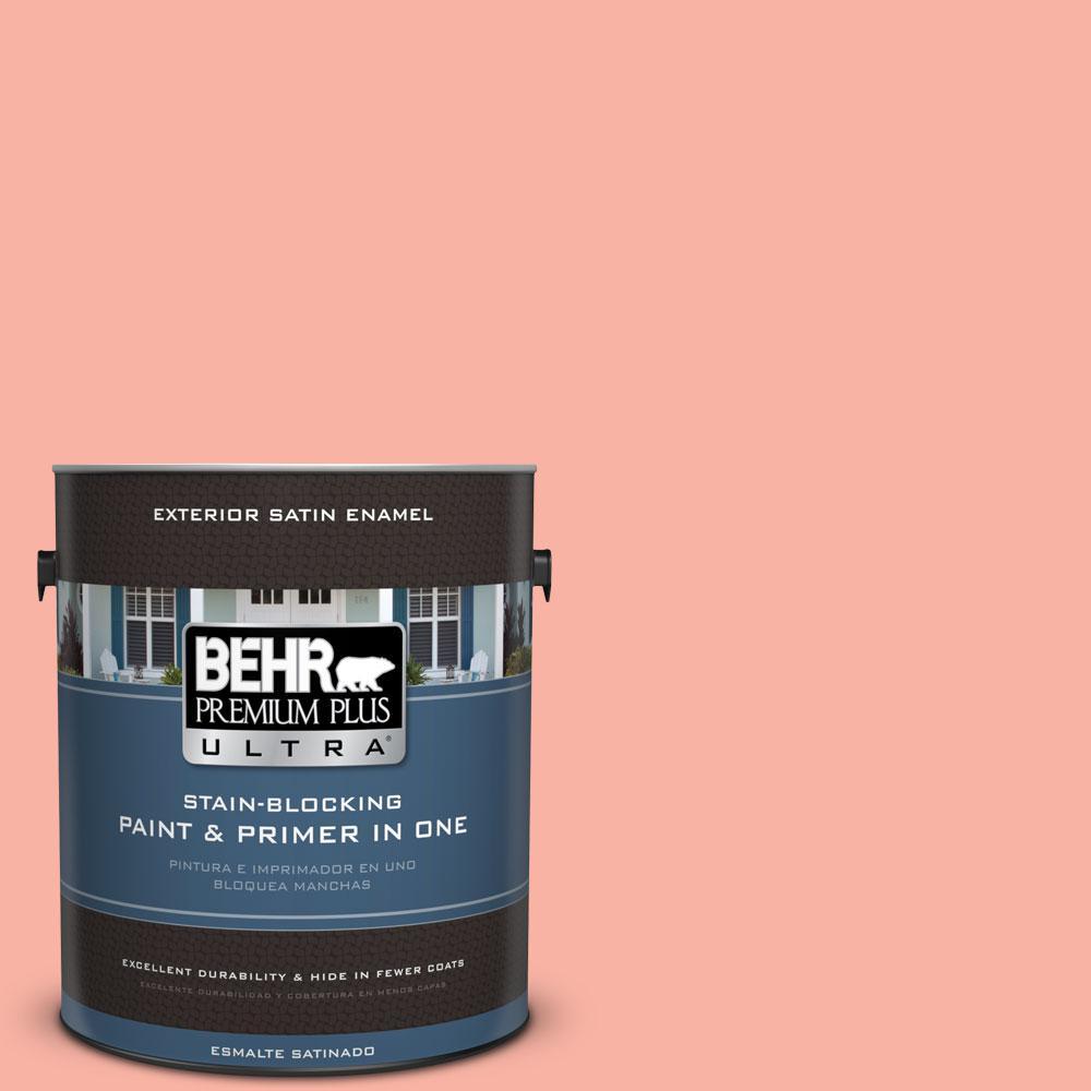 BEHR Premium Plus Ultra 1-gal. #180A-3 Just Blush Satin Enamel Exterior Paint