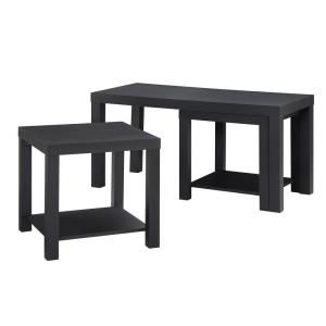 Ameriwood Home Simpson Black Coffee Table and End Table Set (3-Piece) by Ameriwood Home
