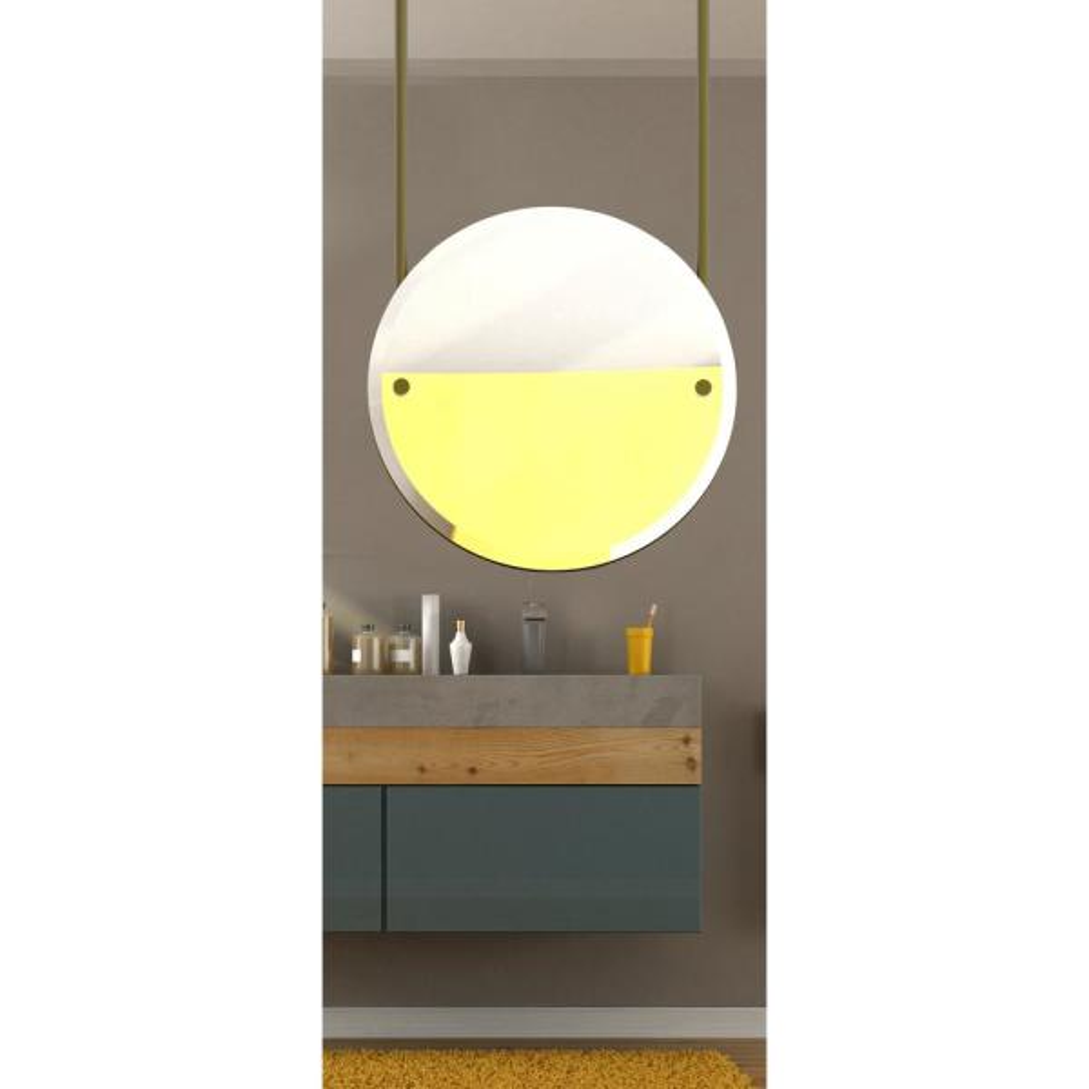 Allied Brass Frameless 22 In W X 60 In H Frameless Round Beveled Edge Bathroom Vanity Mirror In Matte Black Ch 90 Bkm The Home Depot