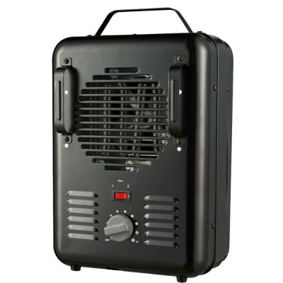 1500-Watt Milkhouse Utility Electric Portable Heater with Thermostat - Black