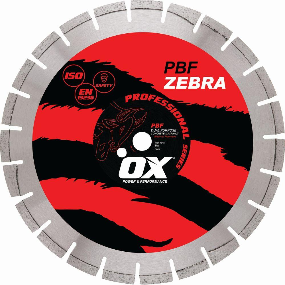 OX Professional Dual Purpose 1 in. Bore 14 in. Walk-Behind Saw Diamond Blade