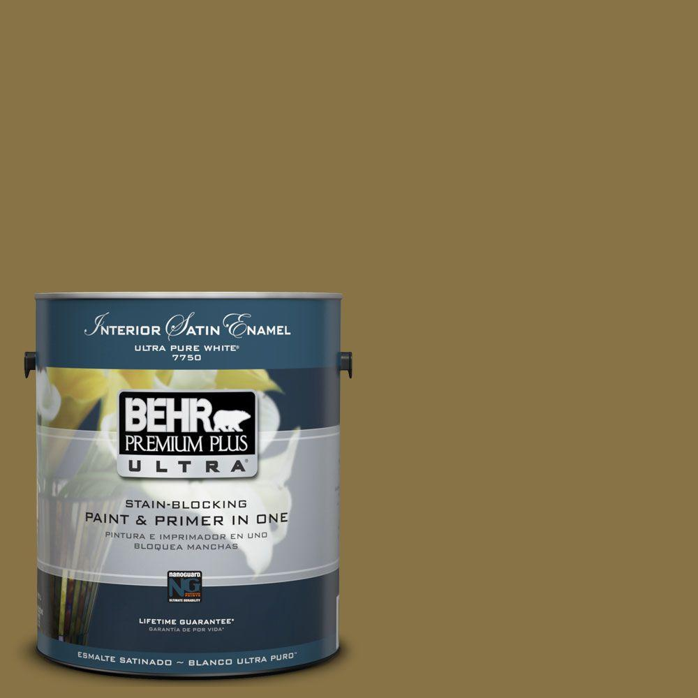 BEHR Premium Plus Ultra 1-Gal. No.UL180-2 Eden Prairie Interior Satin Enamel Paint