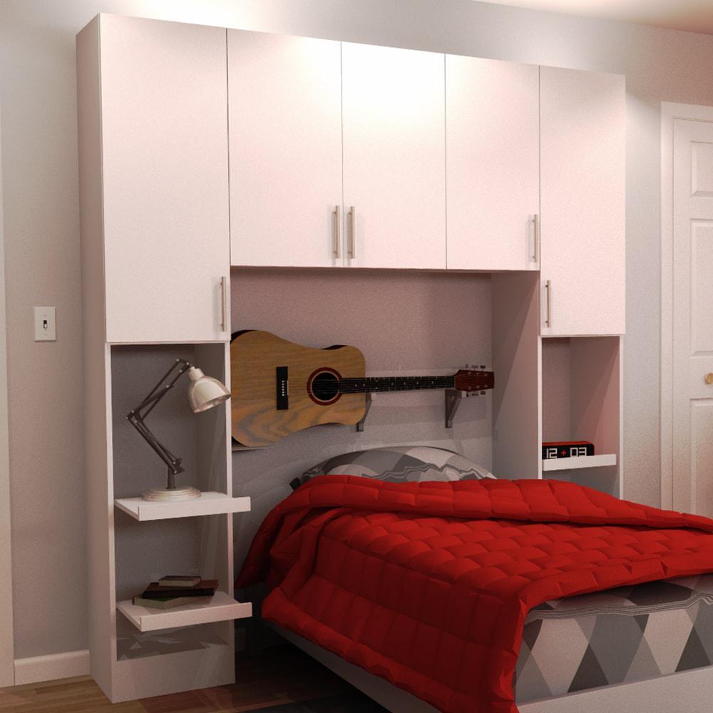 Horizon 1-Piece White Twin Bedroom Kit