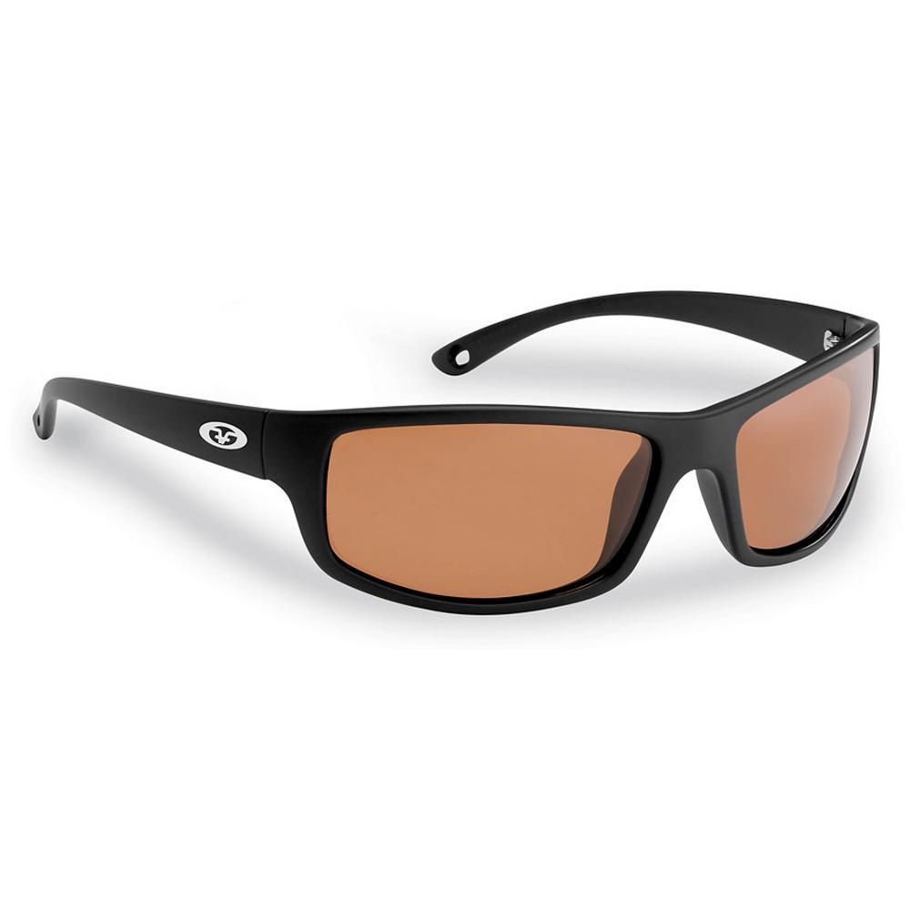 714d528081 Flying Fisherman. Slack Tide Polarized Sunglasses Matte in Black Frame with  Copper Lens