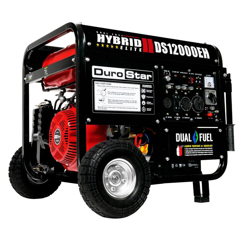 Champion Power Equipment 12000 Watt Gasoline Powered Electric Start Duramax Fuel Filter Float 9500 18 Hp Dual Hybrid Portable Generator