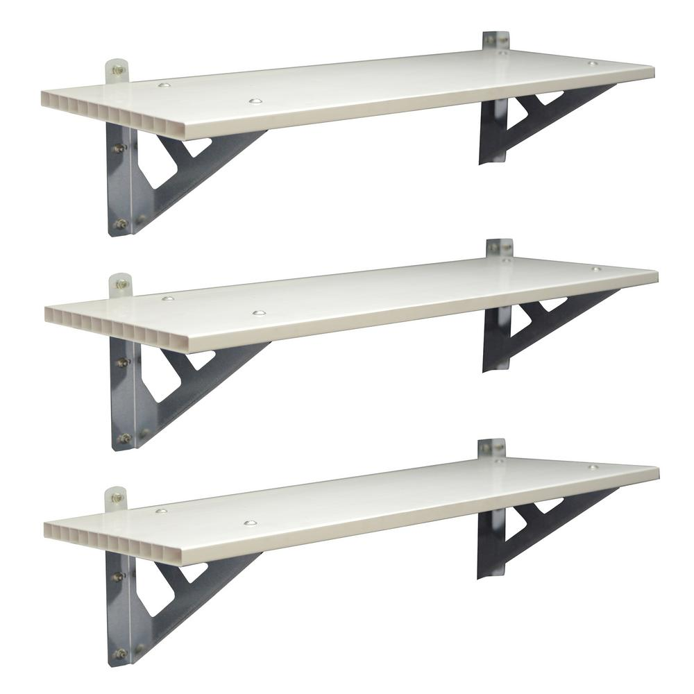 3-Piece SkyLight 33.3 in. x 12 in. x 8.7 in.Shed Shelf