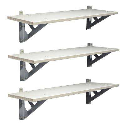 3-Piece SkyLight 33.3 in. x 12 in. x 8.7 in.Shed Shelf Bundle
