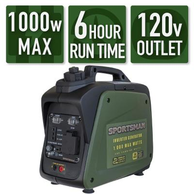 1,000-Watt Recoil Start Gasoline Powered Portable Inverter Generator with Parallel Connection - CARB Approved