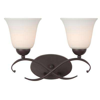 Lily 2-Light Oil Rubbed Bronze Bath Light