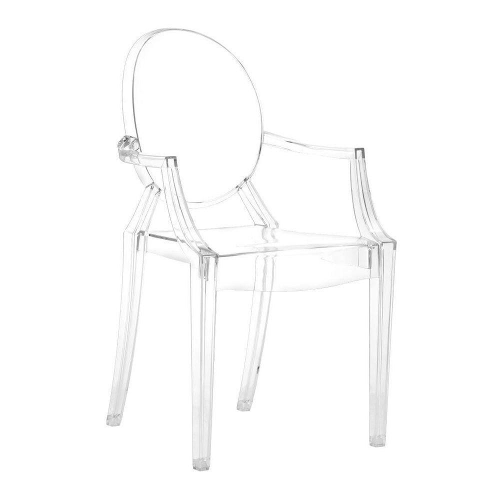 ZUO Anime Transparent Acrylic Dining Chair (Set of 4)