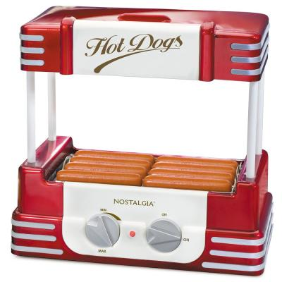 Retro Red Electric Hot Dog Roller and Bun Warmer