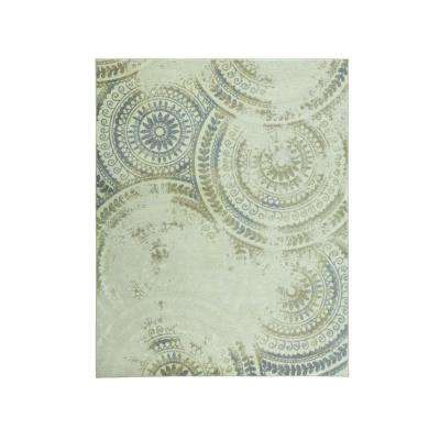 Spiral Medallion Ivory 9 ft. 3 in. x 12 ft. 6 in. Area Rug