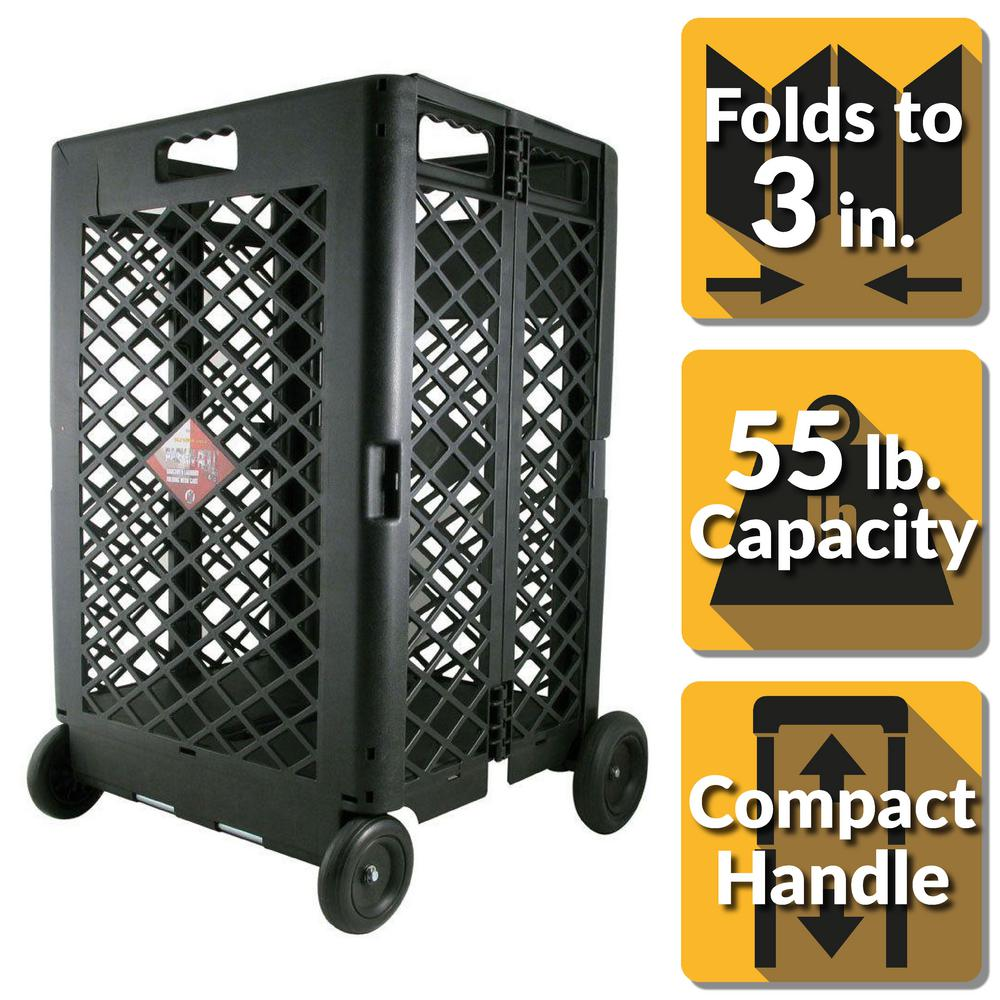 Pack-N-Roll 11-23/32 in. Mesh Utility Rolling Cart