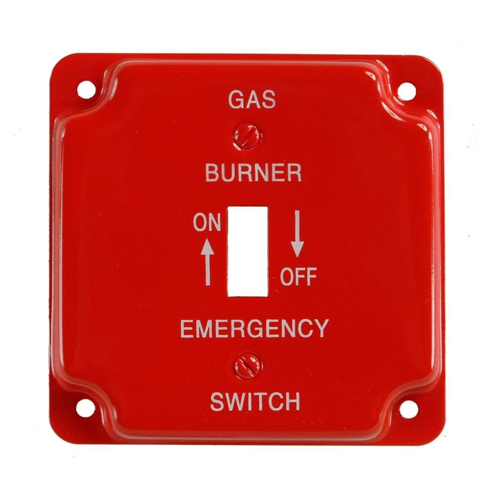 steel 1gang toggle wall plate red