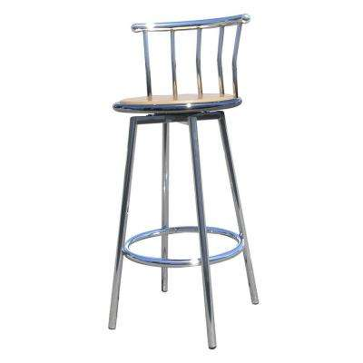 29 in. Chrome Swivel Bar Stool (Set of 2)