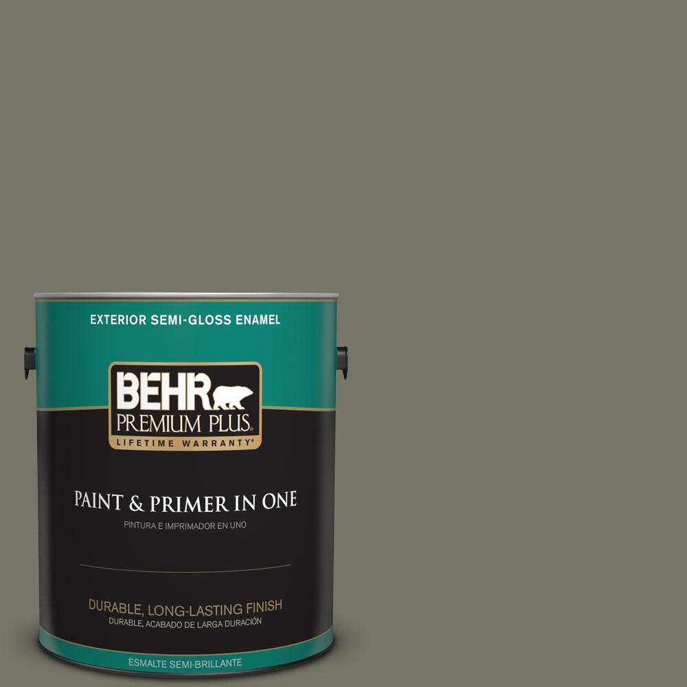 1-gal. #BXC-44 Pepper Mill Semi-Gloss Enamel Exterior Paint