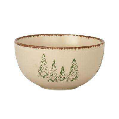 Rustic Retreat Tan Bowl (Set of 4)