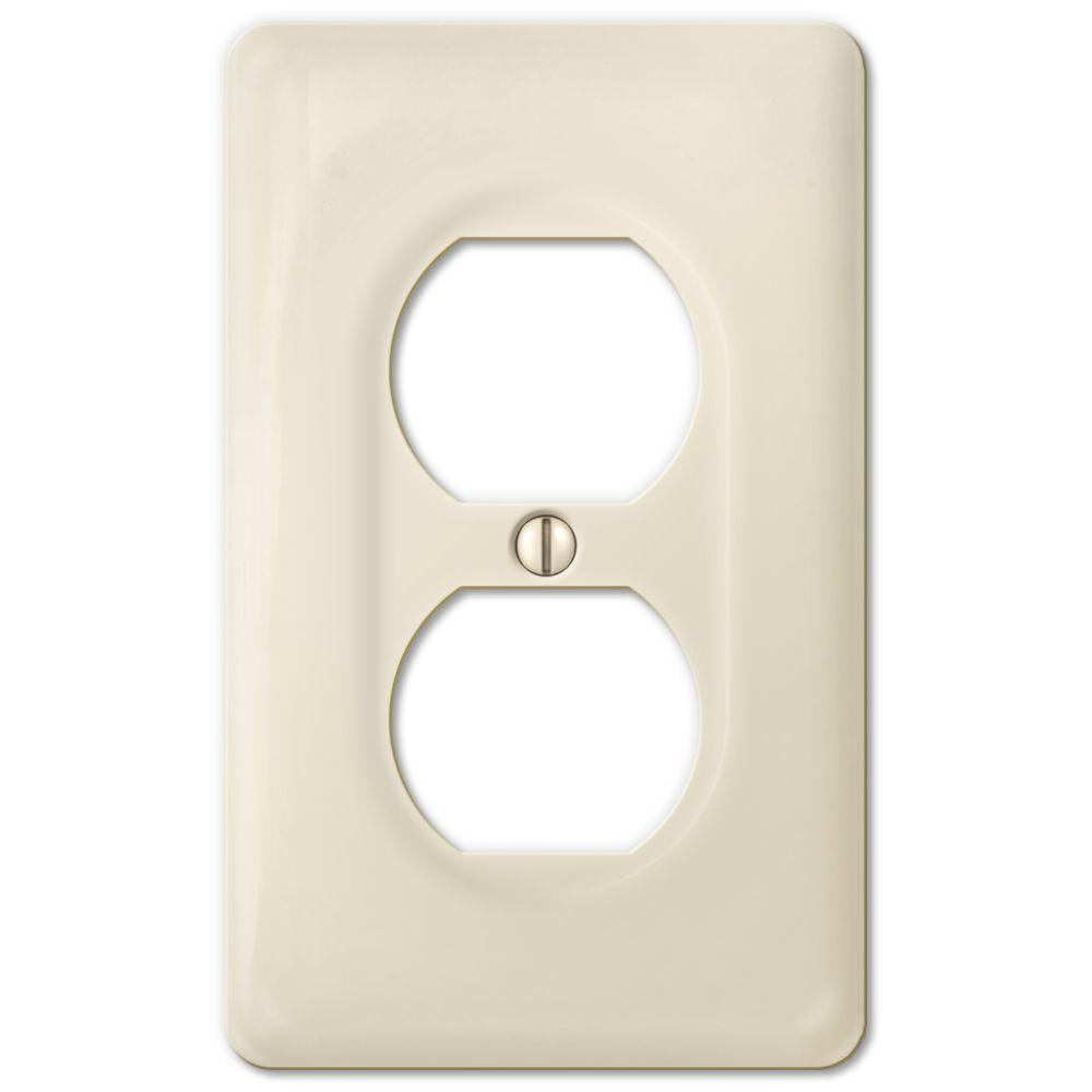 Ceramic Wall Plate Covers Endearing Amerelle Ceramic 1 Duplex Wall Plate  Biscuit3020Dbt  The Home Decorating Design