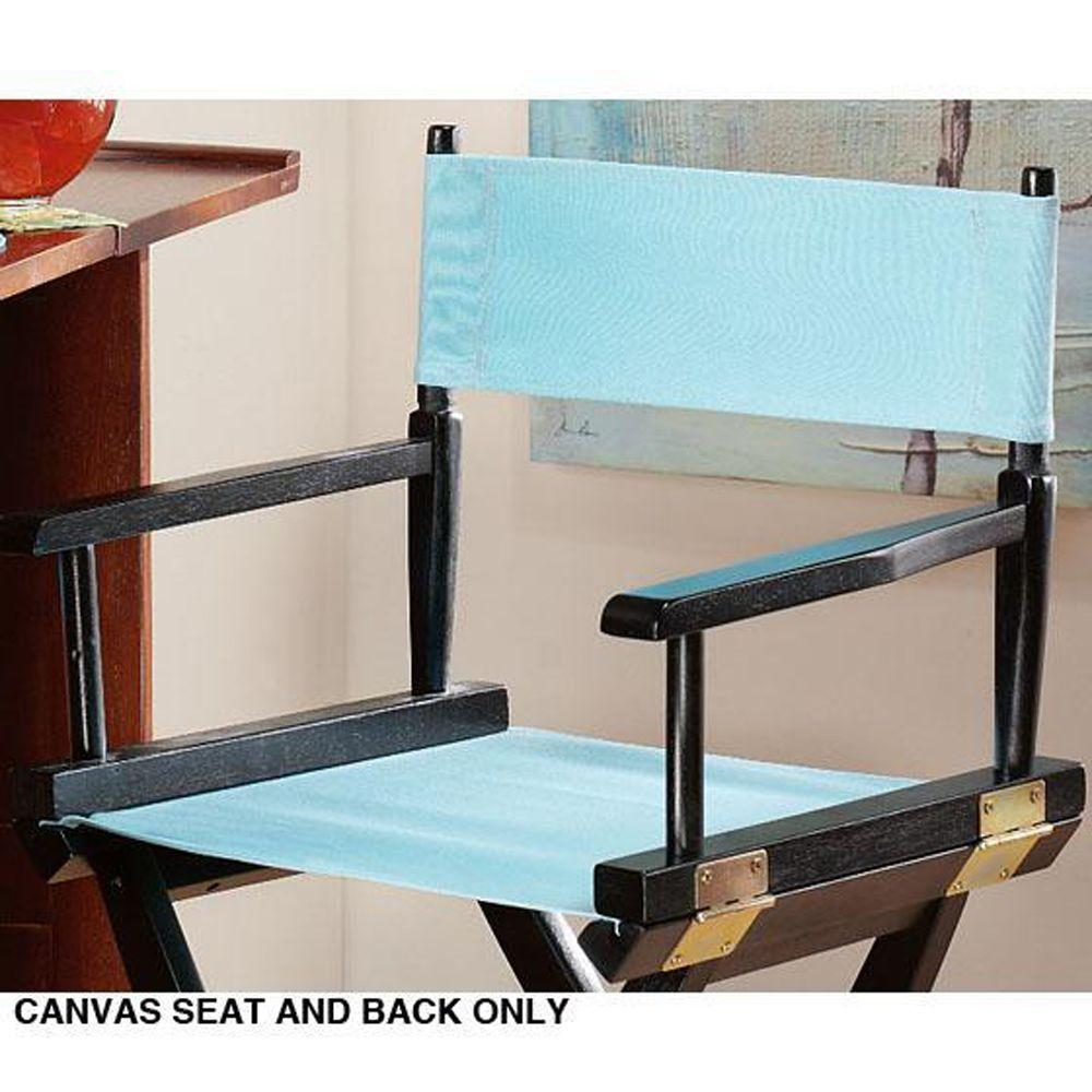 Home Decorators Collection Aqua Seat and Back for Director's Chair -Cover Only