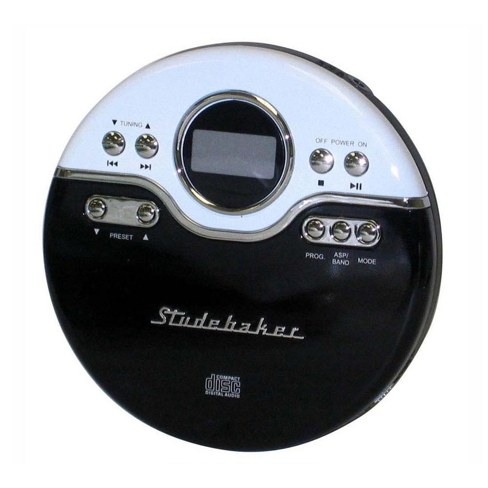 Studebaker Joggable Personal CD Player With PLL Radio In Black/White