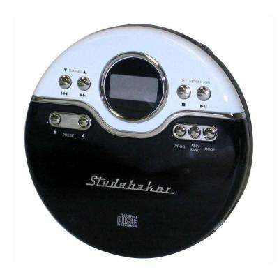 Joggable Personal CD Player with PLL Radio in Black/White