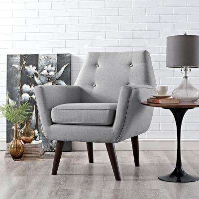 Posit Light Gray Upholstered Armchair