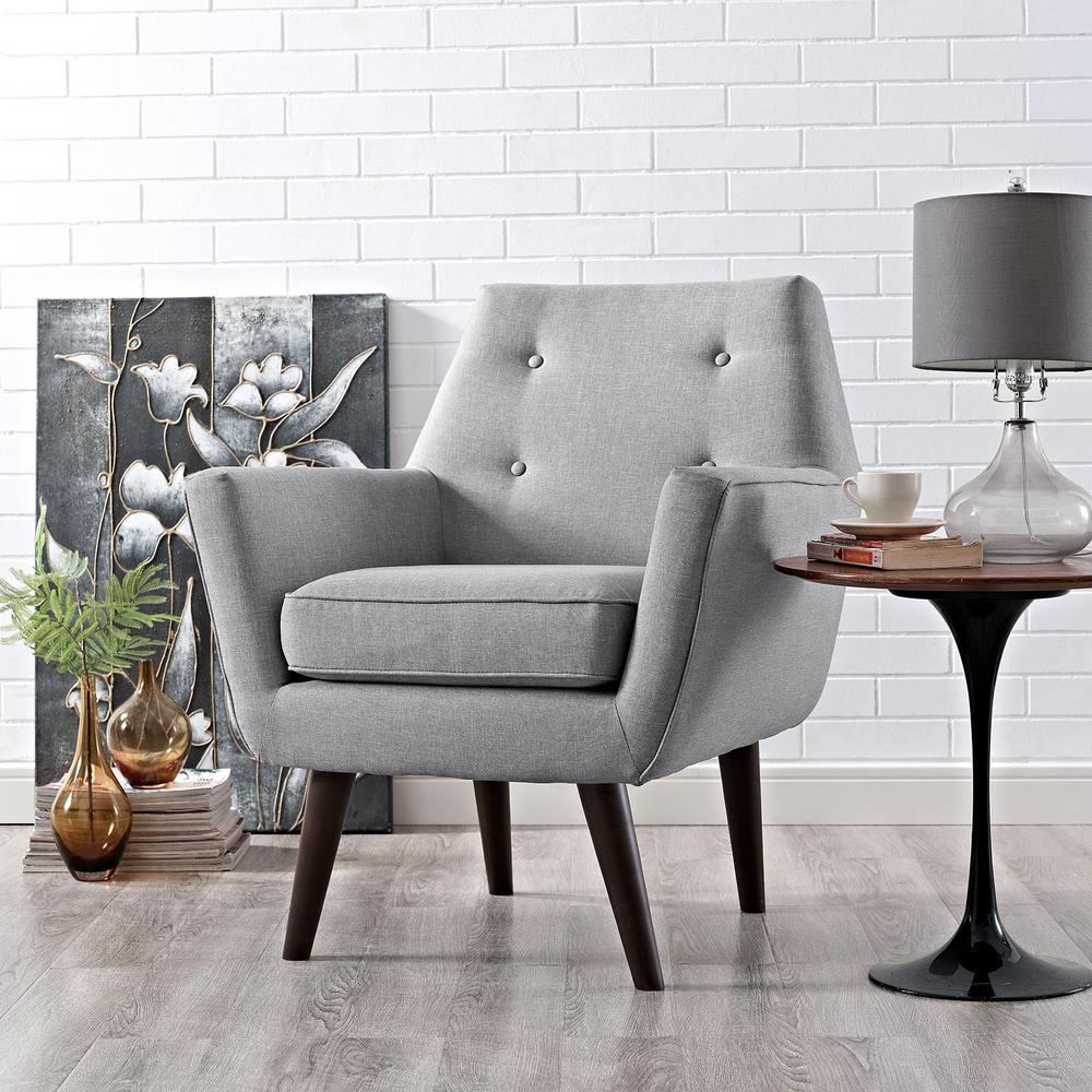 Posit Light Gray Upholstered Armchair