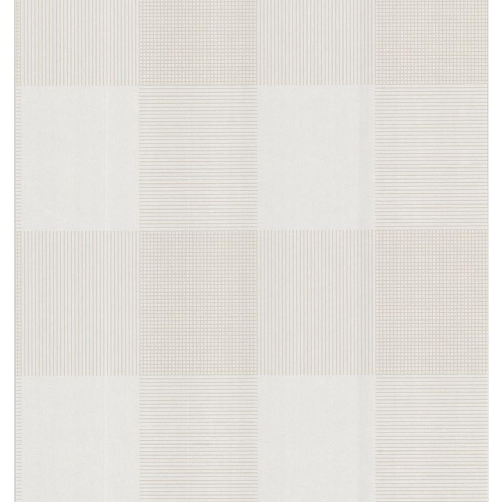 Brewster Geometric Plaid Wallpaper