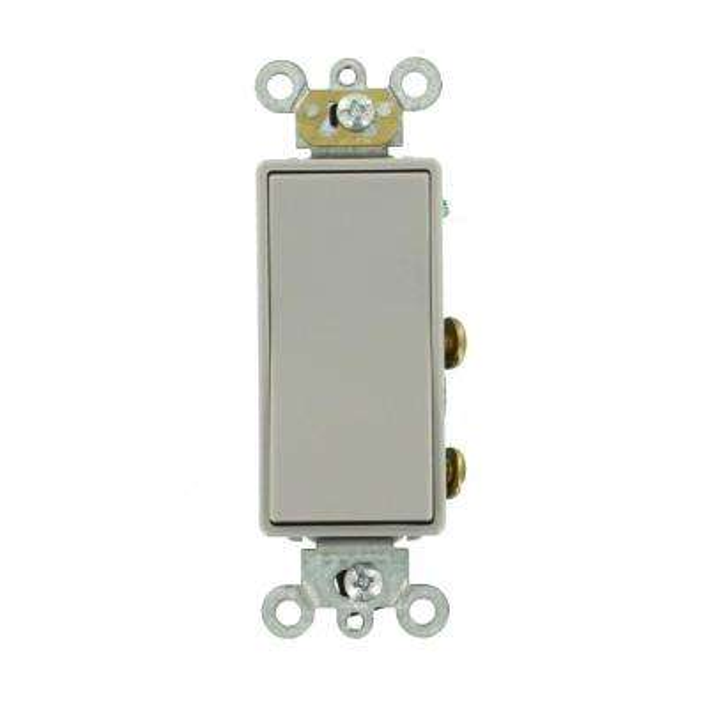 20 Amp Decora Plus Commercial Grade Double Pole Rocker Switch, Gray