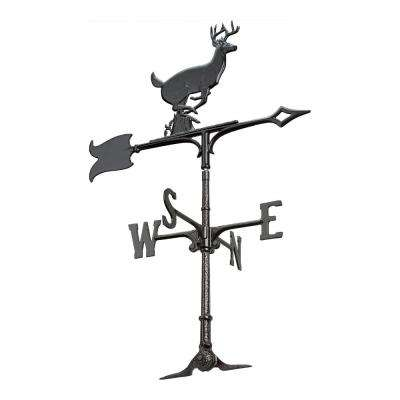 30 in. Black Buck Accent Weathervane