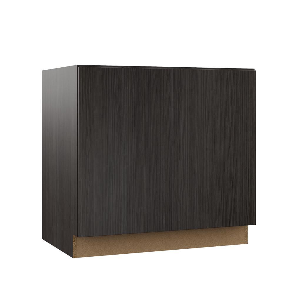 edgeley assembled 36x34 5x23 75 in full height door base kitchen cabinet in thunder rh homedepot com