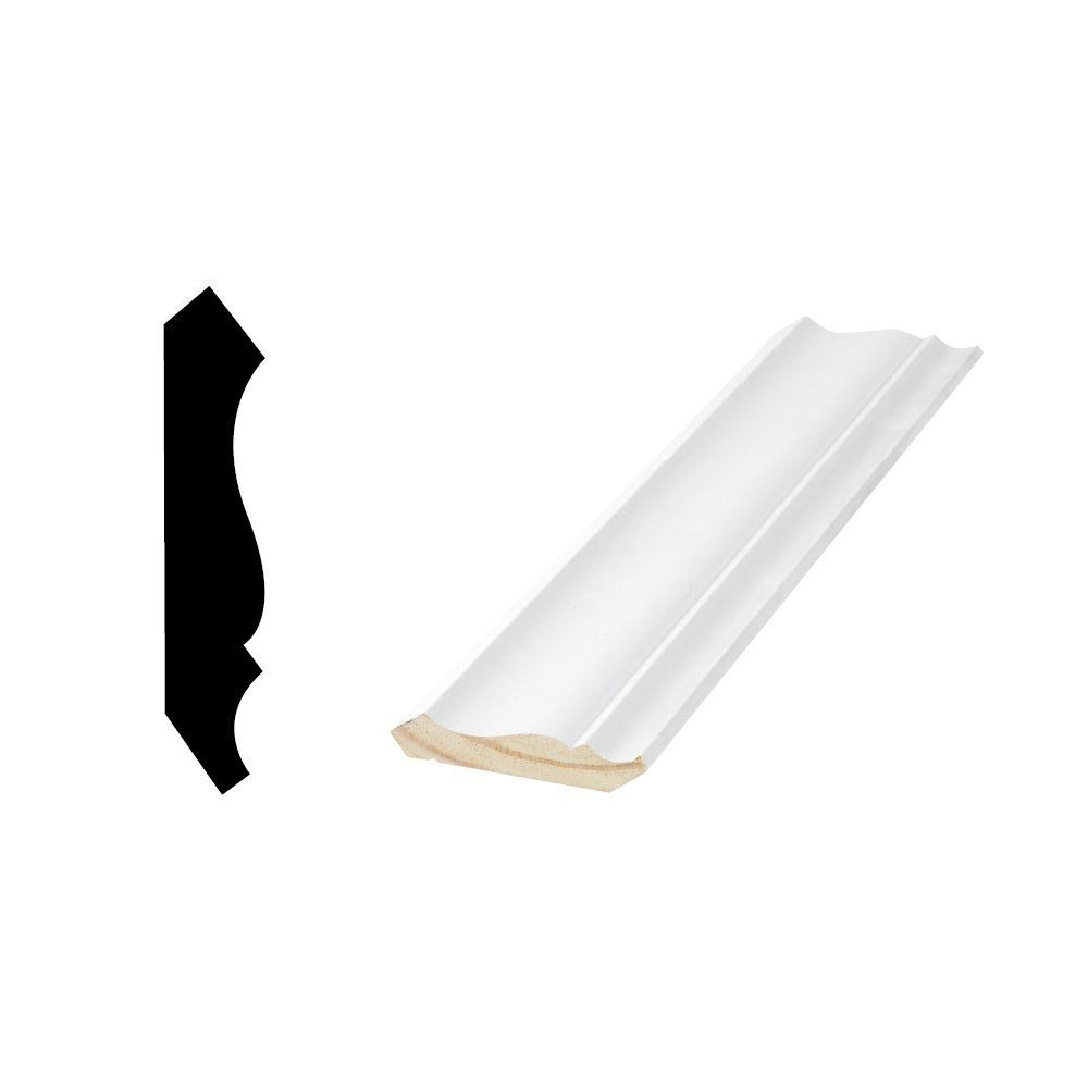 Woodgrain Millwork WM 52 9/16 in. x 2-3/4 in. x 96 in. Primed Finger-Jointed Crown Moulding