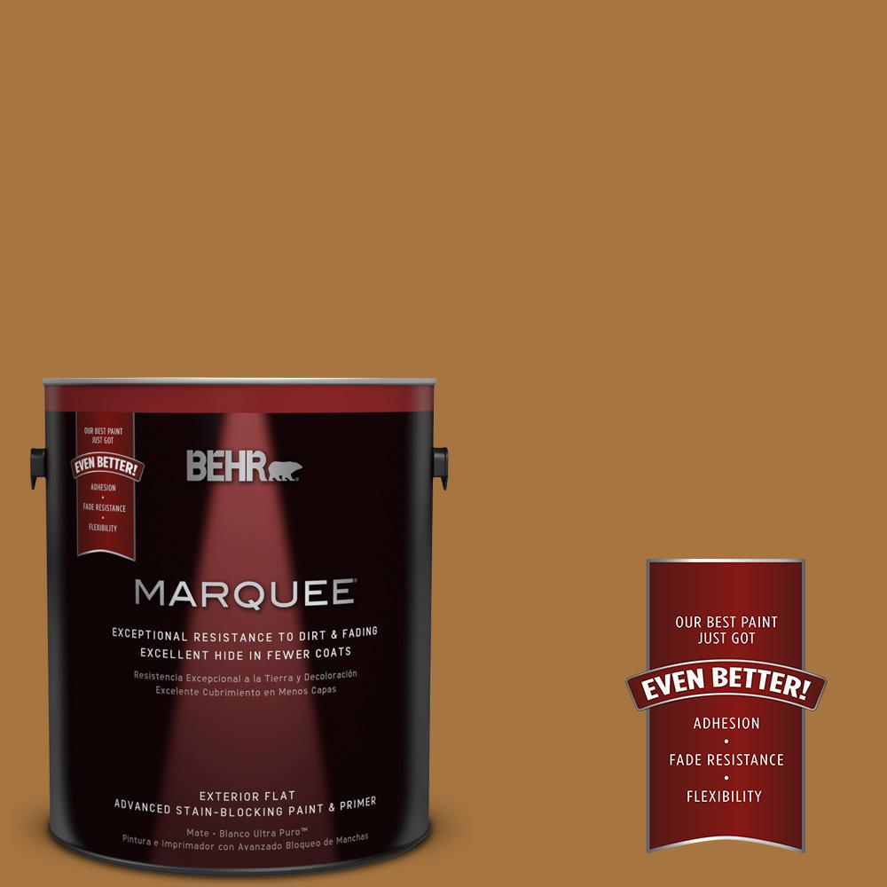 BEHR MARQUEE 1-gal. #MQ4-6 Invitation Gold Flat Exterior Paint