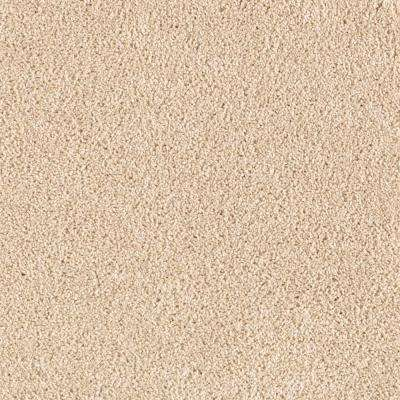 Carpet Sample - Infield II - Color Summer Straw Texture 8 in. x 8 in.