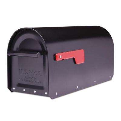 Sequoia Black Heavy Duty Post Mount Mailbox