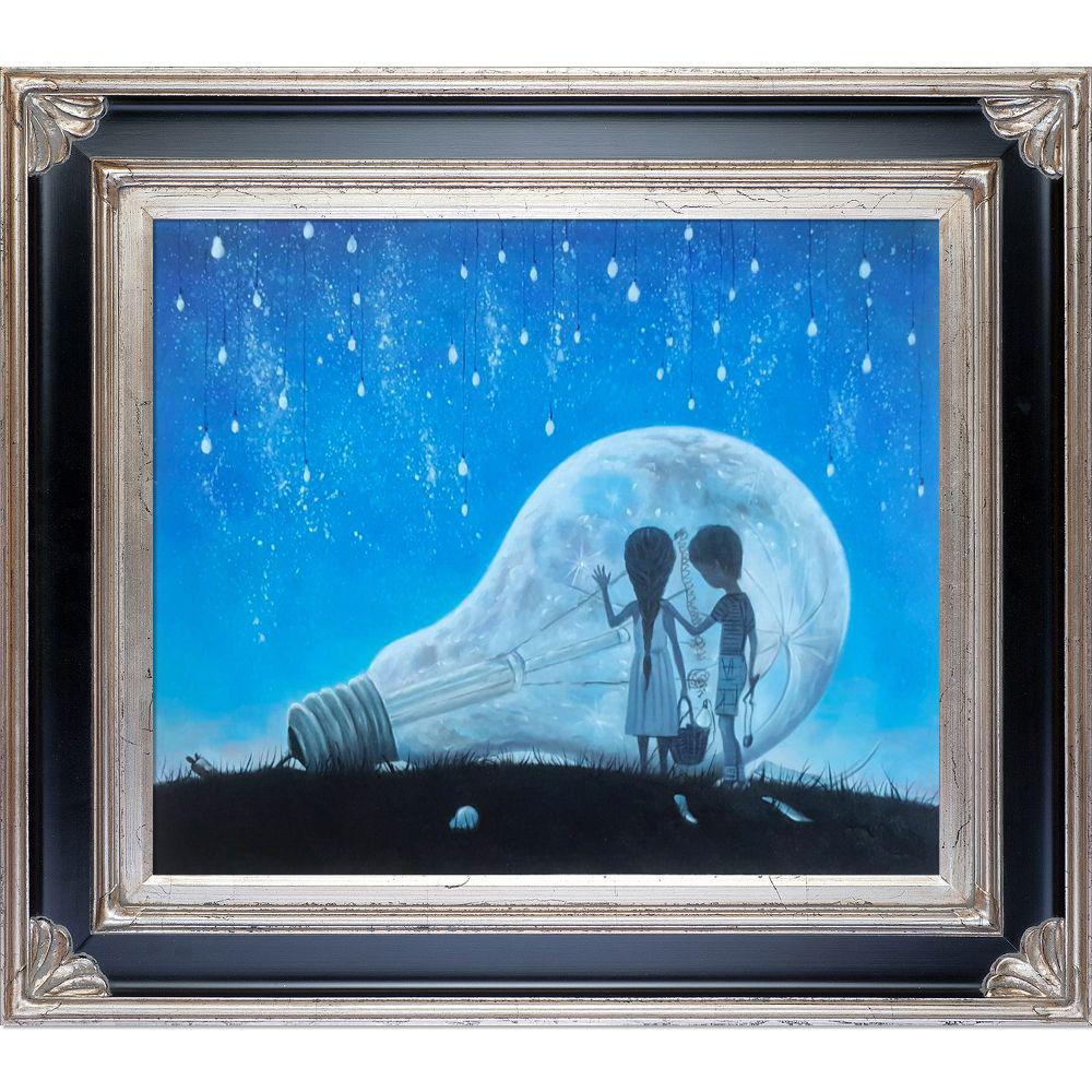 ArtistBe The Night We Broke The Moon Reproduction with Corinthian Aged Silver Frameby Adrian Borda Canvas Print, Multi-color was $772.0 now $375.06 (51.0% off)